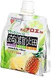 マンナンライフ 大粒アロエクラッシュ蒟蒻畑パイナップル味150g×6個