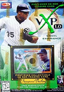 Frank Thomas CD Rom trading card baseball card (Chicago White Sox) 1997 Donruss VXP... by Hall of Fame Memorabilia