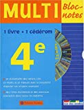 Multi Bloc-notes 4�me (1 CD-Rom inclus)