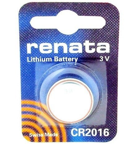 1 pile au Lithium 2016 Renata Pile bouton