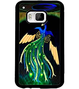 ColourCraft Lovely Peacock Design Back Case Cover for HTC ONE M9