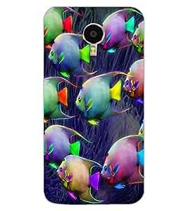 ColourCraft Beautiful Fishes Design Back Case Cover for MEIZU M3 NOTE