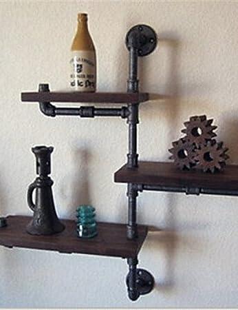 LBLI scaffali diy parete di ferro americano industriale in stile loft mensola a muro in legno scaffali retro pipe rack acqua libreria-Z22 JIAJU-YONGPING #0945