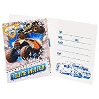 Monster Jam 3D Invitations (8) from Party Destination
