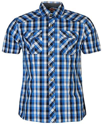 Lee Cooper -  Camicia Casual  - Uomo Blue XX-Large