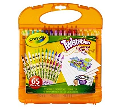 Crayola Twistables Colored Pencils Kit 65pc Set