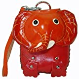 Lovely Elephant Face Cover Design, Genuine Leather Wristlet Mini Bag, Change/coin Purse, Credit Cards/id Card Holder, Jewelry Holder.