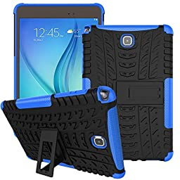 Creazy® Hybrid Kickstand Hard Case Cover for Samsung Galaxy Tab a 8.0inch Sm-t350 (Blue)