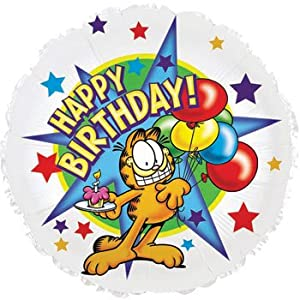 "Amazon.com: Garfield ""Happy Birthday"" 18"" Foil Balloons: Toys & Games"