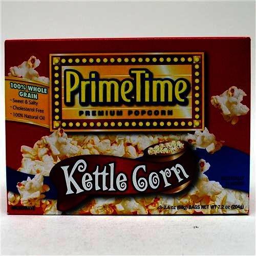 Prime Time Kettle Corn Microwave Popcorn 3Pk - Case Pack 12 Sku-Pas633896