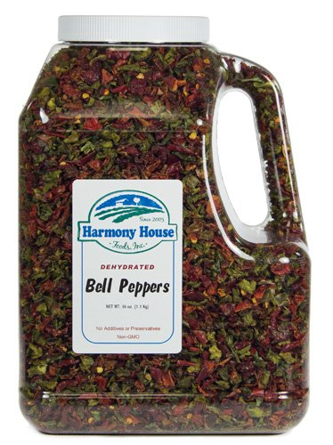 Harmony House Foods, Dehydrated Bell Peppers (36 Oz, Gallon Size Jug)