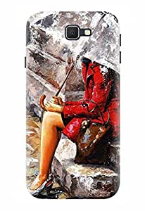 Noise Designer Printed Case / Cover for Samsung Galaxy J7 Prime / Patterns & Ethnic / Red Dress Design