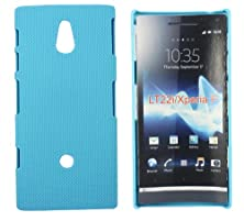 buy Kit Me Out Us Hard Clip-On Case For Sony Xperia P - Light Blue Smooth Touch Textured