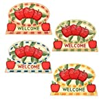 Country Apple Key Rack With 3 Hooks 8 Inches Case Pack 144