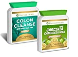 Garcinia Cambogia - AMAZING Fat Burner + Full Body Detox - 120 x High Strength Pills PLUS 120 x Colon Cleanse ALOE VERA Tablet - Specially Formulated for Super Fast Weight Loss - Lose Up 17 Pounds In 12 Weeks ! - Garcinia Cambogia WHOLEFRUIT Not An Extract ! FREE UK DELIVERY + FREE Diet Plan - Lose Weight And Feel Great !