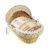 Clair de Lune Little Bear Wicker Moses Basket (Natural)