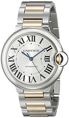 buy Cartier Men'S W6920047 Ballon Bleu Steel And 18Kt Gold Watch