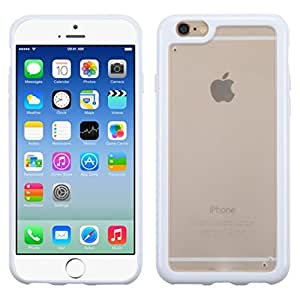 MyBat iPhone 6 Gummy Cover - Retail Packaging - Transparent Clear/Solid White