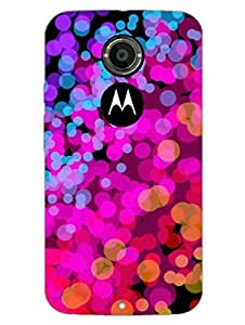 Bubble Splash - Colorful -Abstract - Designer Printed Hard Back Shell Case Cover for Moto X2 Superior Matte Finish Moto X2 Cover Case