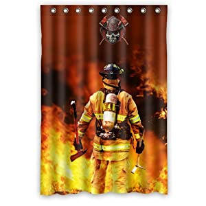 Http Amazon Com Firefighter Waterproof Bathroom Shower Curtain Dp B00n2le69a