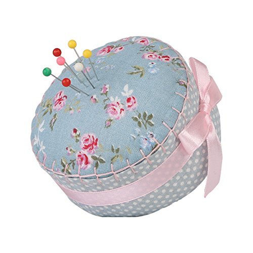 neoviva-floral-fabric-coated-fully-padded-pin-cushion-in-cupcake-shape-with-satin-ribbon-knot-for-lo