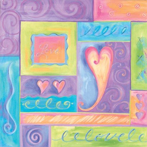 "Art 4 Kids ""Daydream Hearts"" Mounted Art Print, 18""X18"" front-822655"