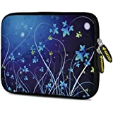 Amzer 7.75 Inch Neoprene Sleeve Midnight Lily For Samsung GALAXY Tab 2 7.0, Google Nexus 7, Amazon Kindle Fire...