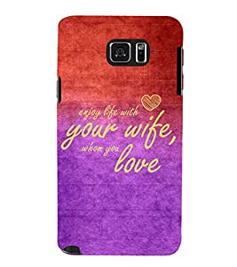 EPICCASE love to spouse Mobile Back Case Cover For Samsung Galaxy Note 5 (Designer Case)