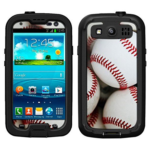 Skin Decal for LifeProof Samsung Galaxy S3 Case - Baseballs (Baseball Samsung Galaxy S3 Case compare prices)