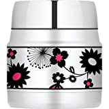 Thermos Stainless Steel Food Jar, 10-Ounce, Pop of Pink