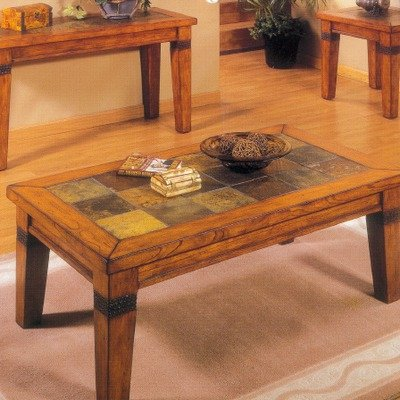 Tile Top Coffee Table Santa Fe Coffee Table With Natural Slate Tiles By Alpine Furniture