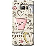 Tecozo Designer Printed Back Cover For Samsung Galaxy S6 Edge Plus, Samsung Galaxy S6 Edge Plus Back Cover, Hard Case For Samsung Galaxy S6 Edge Plus, Case Cover For Samsung Galaxy S6 Edge Plus, (Coffee Love Case Design,Quirky)