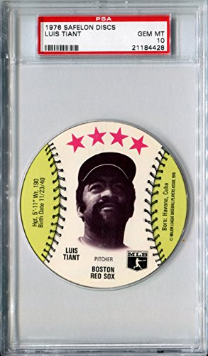 1976-msa-safelon-sports-discs-luis-tiant-rare-psa-gem-mint-10-sp-boston-red-sox-cleveland-indians