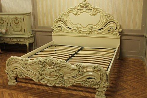 Doppelbett Bett 180×200 Schlafzimmer Antik StilStil Barock Vp7731Q/GP günstig bestellen