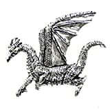 Dragon Pewter Brooch Pin Gift Boxed