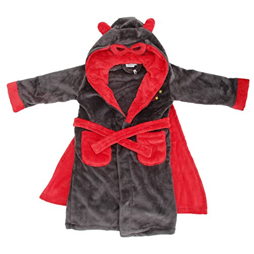 Vestaglia da Supereroe con maschera e mantello - Bambino (2-3 anni) (Carbone)