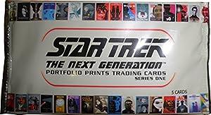 Star Trek TNG Portfolio Prints Series 1 Factory Sealed Trading Card Box