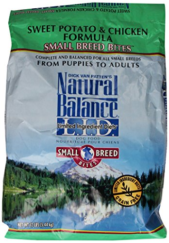 Dick Van Patten'S Natural Balance Limited Ingredient Diets Sweet Potato And Chicken Formula Small Breed Bites Dry Dog Food, 12-Pound Bag