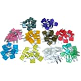 All Trade Direct 30 X Mixed Amp Mini Blade Fuses Car Motorbike Atm Auto