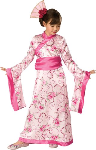 Little girl's Asian Princess Kimono Costume - Oriental style dress