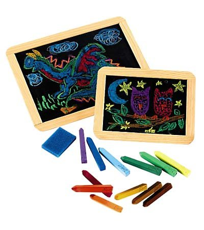 Holgate Toys Real Slate Chalkboards with Wood Trim, Set of 2