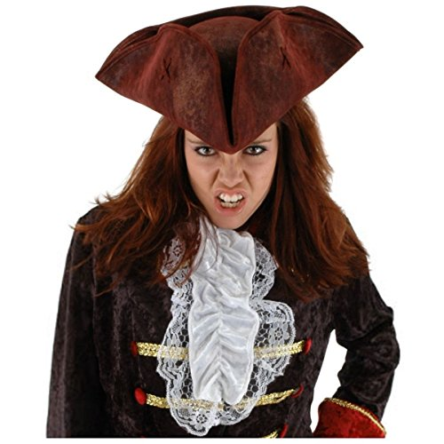 [GSG Scallywag Black Pirate Hat Costume Accessory Adult Teen Halloween] (Scallywag Pirate Costume)
