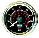 Viair 2 inch - Dual Needle Gauge - Black Face - Illuminated -160 PSI
