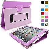 Snugg™ - Étui Pour iPad 2 - Smart Cover Avec Support Pied Et Une Garantie à Vie (En Cuir Violet) Pour Apple iPad 2
