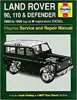 land rover 90/110 and defender service and repair manual ... land rover defender workshop manual #10