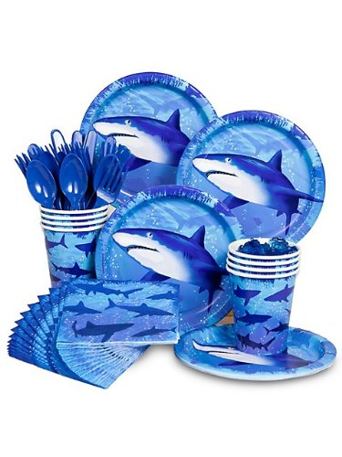 Fantastic Deal! Shark Party Standard Kit Serves 8 Guests
