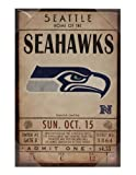 Seattle Seahawks Classic Ticket 12 x 18 Canvas Wall Art
