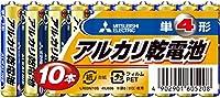 三菱電機 アルカリ乾電池(シュリンクパック) 単4形 10個入 LR03N/10S