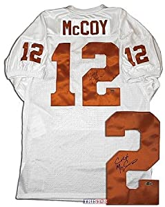 Colt McCoy Autographed Texas Longhorns Custom White Jersey - Tristar Productions... by Sports+Memorabilia