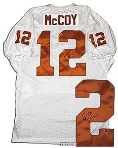 Colt McCoy Autographed Texas Longhorns Custom White Jersey - Tristar Productions... by Sports+Memorabilia